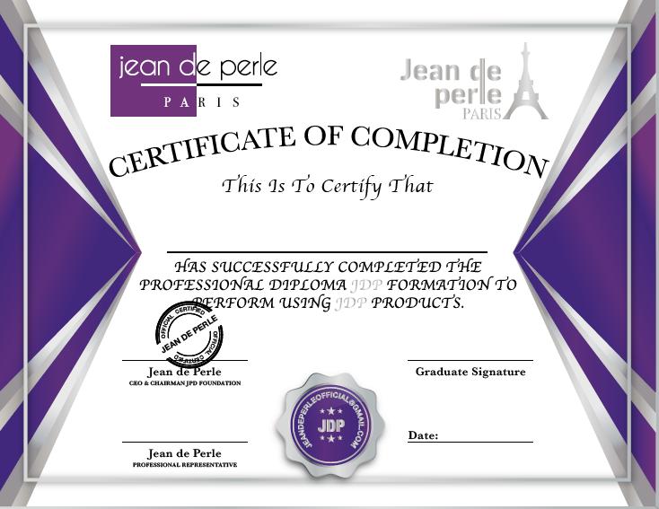 Jean de Perle Silver Certificate